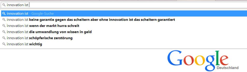 """Googlesuche zu """"Innovation ist"""""""